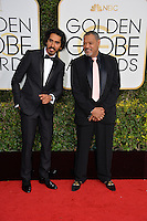 Dev Patel &amp; Laurence Fishburn at the 74th Golden Globe Awards  at The Beverly Hilton Hotel, Los Angeles USA 8th January  2017<br /> Picture: Paul Smith/Featureflash/SilverHub 0208 004 5359 sales@silverhubmedia.com