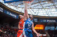 VALENCIA, SPAIN - NOVEMBER 22: Hamilton, Jordi Grimau during Endesa League match between Valencia Basket Club and Retabet.es GBC at Fonteta Stadium on November 22, 2015 in Valencia, Spain