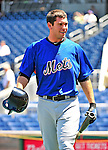 3 July 2010: New York Mets catcher Josh Thole warms up prior to a game against the Washington Nationals at Nationals Park in Washington, DC. The Nationals defeated the Mets 6-5 in the third game of their 4-game series. Mandatory Credit: Ed Wolfstein Photo