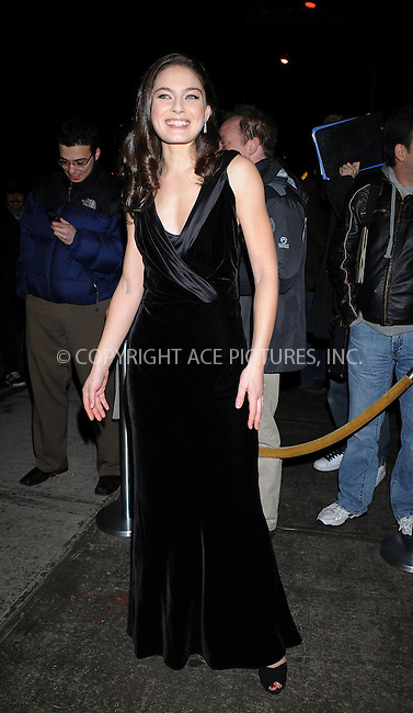 WWW.ACEPIXS.COM . . . . . ....January 12 2009, New York City....Actress Alexa Davalos arriving at a screening of 'Defiance' hosted by The Cinema Society & Nextbook at Landmark Sunshine Theater on January 12, 2009 in New York City.....Please byline: KRISTIN CALLAHAN - ACEPIXS.COM.. . . . . . ..Ace Pictures, Inc:  ..tel: (212) 243 8787 or (646) 769 0430..e-mail: info@acepixs.com..web: http://www.acepixs.com