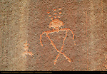Anasazi Shaman Figure, Eye of the Sun Petroglyph Wall, Monument Valley Navajo Tribal Park, Navajo Nation Reservation, Utah/Arizona Border