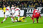 09.03.2019, Signal Iduna Park, Dortmund, GER, 1.FBL, Borussia Dortmund vs VfB Stuttgart, DFL REGULATIONS PROHIBIT ANY USE OF PHOTOGRAPHS AS IMAGE SEQUENCES AND/OR QUASI-VIDEO<br /> <br /> im Bild   picture shows:<br /> Marco Reus (Borussia Dortmund #11) wird fair von Ozan Kabak (VfB Stuttgart #18)  vom Ball getrennt, <br /> <br /> Foto &copy; nordphoto / Rauch
