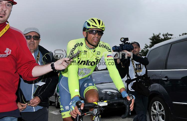 Picture by Simon Wilkinson/SWpix.com - 03/07/2016 - Cycling Tour de France Stage 2 - Saint Lo - Cherbourg en Contentin<br /> Alberto Contador<br /> copyright picture - Simon Wilkinson - simon@swpix.com