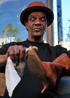 Shoe shine man, San Diego.