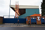 Contrasting colours at The Cheadle End. Stockport County v Barnet, 07032020. Edgeley Park, National League. Photo by Paul Thompson.