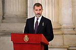 King Felipe VI of Spain attends the Order of Golden Fleece (Toison de Oro), ceremony at the Royal Palace. January 30,2018. (ALTERPHOTOS/Pool)