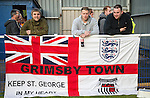 Grimsby Town fans before the Vanamara Conference Play Off Semi Final First Leg match between Eastleigh and Grimsby Town at The Silverlake Stadium, Eastleigh<br /> Picture by David Horn/eXtreme aperture photography +44 7545 970036<br /> 30/04/2015