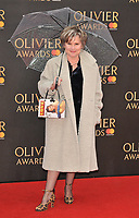 Imelda Staunton at the Olivier Awards 2018, Royal Albert Hall, Kensington Gore, London, England, UK, on Sunday 08 April 2018.<br /> CAP/CAN<br /> &copy;CAN/Capital Pictures<br /> CAP/CAN<br /> &copy;CAN/Capital Pictures