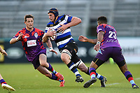 Paul Grant of Bath United goes on the attack. Remembrance Rugby match, between Bath United and the UK Armed Forces on May 10, 2017 at the Recreation Ground in Bath, England. Photo by: Patrick Khachfe / Onside Images