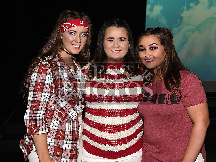 Cheere Murray, Chelsea Maguire and Nicole Leddy who took part in the Strictly Come Dancing in aid of SOSAD. Photo:Colin Bell/pressphotos.ie