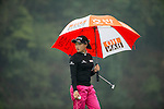 Han Sol Ji of South Korea at the 18th hole during Round 4 of the World Ladies Championship 2016 on 13 March 2016 at Mission Hills Olazabal Golf Course in Dongguan, China. Photo by Victor Fraile / Power Sport Images