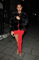 Cindy Kimberly at the Wolfie Ciny x I Saw It First Christmas 2017 Collection launch party, Tape London, Hanover Square, London, England, UK, on Wednesday 08 November 2017.<br /> CAP/CAN<br /> &copy;CAN/Capital Pictures