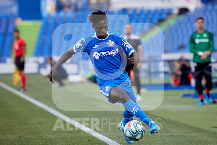 Getafe CF's Merveil Ndockyt during Preseason match between Getafe CF and Crotone FC at Colisseum Alfonso Perez in Getafe, Spain. August 02, 2019. (ALTERPHOTOS/A. Perez Meca)