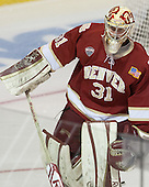 Evan Cowley (DU - 31) - The Boston College Eagles defeated the University of Denver Pioneers 6-2 in their NCAA Northeast Regional semi-final on Saturday, March 29, 2014, at the DCU Center in Worcester, Massachusetts.
