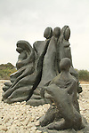 Israel, Southern Coastal Plain, memorial to the Hebrew female soldiers in Nitzanim
