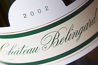 2002 Chateau Belingard. Detail of label. Chateau Belingard Bergerac Dordogne France