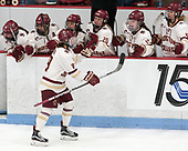 Makenna Newkirk (BC - 19) -  The Boston College Eagles defeated the University of Vermont Catamounts 4-3 in double overtime in their Hockey East semi-final on Saturday, March 4, 2017, at Walter Brown Arena in Boston, Massachusetts.