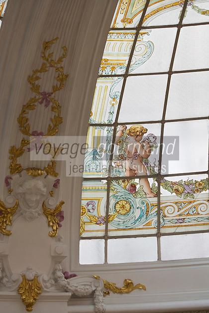 Europe/France/Provence-Alpes-Côte d'Azur/06/Alpes-Maritimes/Nice:  Hôtel: Le Négresco- La Verrière du Salon Royal réalisée par Gustave Eiffel