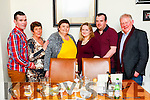 Damien Roche, Bridie Roche, Tina Cunningham, Audrey Roche, Keith Roche and Damien Roche, enjoying a family meal at Bella Bia restaurant, Tralee on Saturday night last.
