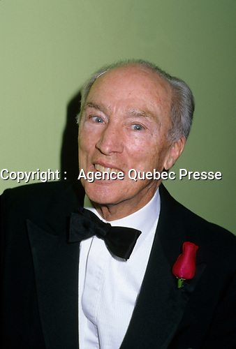 Montreal (Qc) CANADA, October 1996 File Photo -<br /> <br /> <br /> Pierre E. Trudeau<br /> <br /> photo (c) Pierre Roussel -  Images Distribution