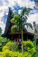 Indonesia, Sumatra. Samosir. Liberta Home Stay in the southern bay of Tuk Tuk. There is a large number of cheap accommodation on Tuk Tuk, and the quality is generally good.