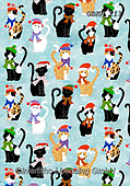 Kate, GIFT WRAPS, GESCHENKPAPIER, PAPEL DE REGALO, Christmas Santa, Snowman, Weihnachtsmänner, Schneemänner, Papá Noel, muñecos de nieve, paintings+++++Christmas cats wrap 2,GBKM111,#gp#,#x# ,sticker,stickers