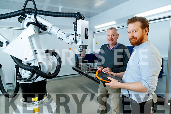John Fleming (Engineering Manager) and Philip D'Arcy (Design Engineer), at Dairymaster, Causeway.