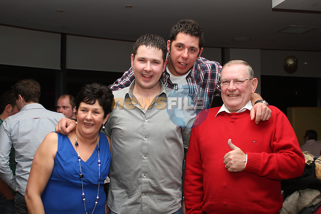 Neil Murphy with his family at his 30th in Bru...(Photo credit should read Jenny Matthews www.newsfile.ie)....This Picture has been sent you under the conditions enclosed by:.Newsfile Ltd..The Studio,.Millmount Abbey,.Drogheda,.Co Meath..Ireland..Tel: +353(0)41-9871240.Fax: +353(0)41-9871260.GSM: +353(0)86-2500958.email: pictures@newsfile.ie.www.newsfile.ie.