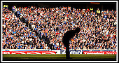 Rangers V Celtic- SPL - Ibrox Stadium, Glasgow -  head down for Rangers keeper Klos, and a silenced Ibrox faithful, after Hartson scored the only goal of the game ... Pic Donald MacLeod 04.10.03