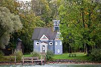 Herrenchiemsee Chapel on island in Chiemsee Lake in Baden-Wurttenberg, Bavaria, Germany