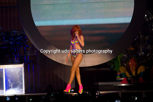 Rihanna Performs at Her Loud Tour with Special Guest J. Cole at the Nassau Coliseum, NY  7/19/11
