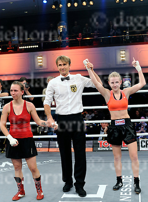 January 09-16,Maritim Hotel, Tiergarten, Berlin, GermanyMichael Light Women Flyweight fight Fabiana Bytyqi,Czech Republic ,r, wins  vs Claudia Ferenczi from Slovakia