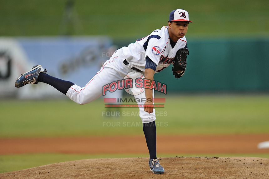 Chris Archer during the Southern League Playoffs. West Tenn won the game 8-3 at Smokies Park, Kodak Tennessee. Photo By Tony Farlow/Four Seam Images.