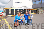 Kenneth O'Keeffe, Helen O'Keeffe, Jamie O'Keeffe and Shane O'Keeffe from Tralee enjoying the Liebherr Cranes open day on Sunday