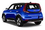 Car pictures of rear three quarter view of 2020 KIA e-Soul Premium 5 Door SUV Angular Rear