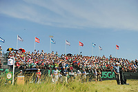 Steve Stricker (USA) is introduced to the gallery on the first tee during Saturday's round 3 of the 117th U.S. Open, at Erin Hills, Erin, Wisconsin. 6/17/2017.<br /> Picture: Golffile | Ken Murray<br /> <br /> <br /> All photo usage must carry mandatory copyright credit (&copy; Golffile | Ken Murray)