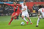 12.01.2018, BayArena, Leverkusen , GER, 1.FBL., Bayer 04 Leverkusen vs. FC Bayern M&uuml;nchen<br /> im Bild / picture shows: <br /> Karim Bellarabi (Leverkusen #38), im Zweikampf gegen  Franck Ribery (Bayern Muenchen #7),  <br /> <br /> <br /> Foto &copy; nordphoto / Meuter