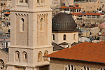 Jerusalem, Israel, The bell tower and the dome of the Lutheran Church of the Redeemer at the Christian quarter of the Old City<br />