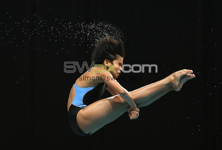 PICTURE BY VAUGHN RIDLEY/SWPIX.COM - Diving - XIX Commonwealth Games - Dr. S.P. Mukherjee Swimming Stadium, New Dehli, India - 11/10/10...Copyright - Simon Wilkinson - 07811267706...Malaysia's Traisy Tukiet competes in the Women's 10m Final.