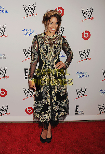 Vanessa Hudgens<br /> WWE &amp; E! Entertainment's &quot;SuperStars For Hope&quot; supporting Make-A-Wish at The Beverly Hills Hotel in Beverly Hills, CA., USA.<br /> August 15th, 2013<br /> full length gold black embroidered hair up braid plait dyed blonde hand on hip dress<br /> CAP/ROT/TM<br /> &copy;Tony Michaels/Roth Stock/Capital Pictures