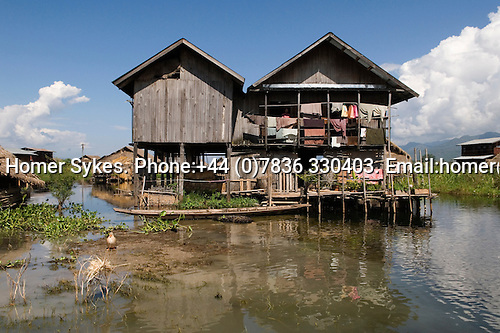 Inle Lake. Myanmar (Burma.) 2006. Housing on stilts.