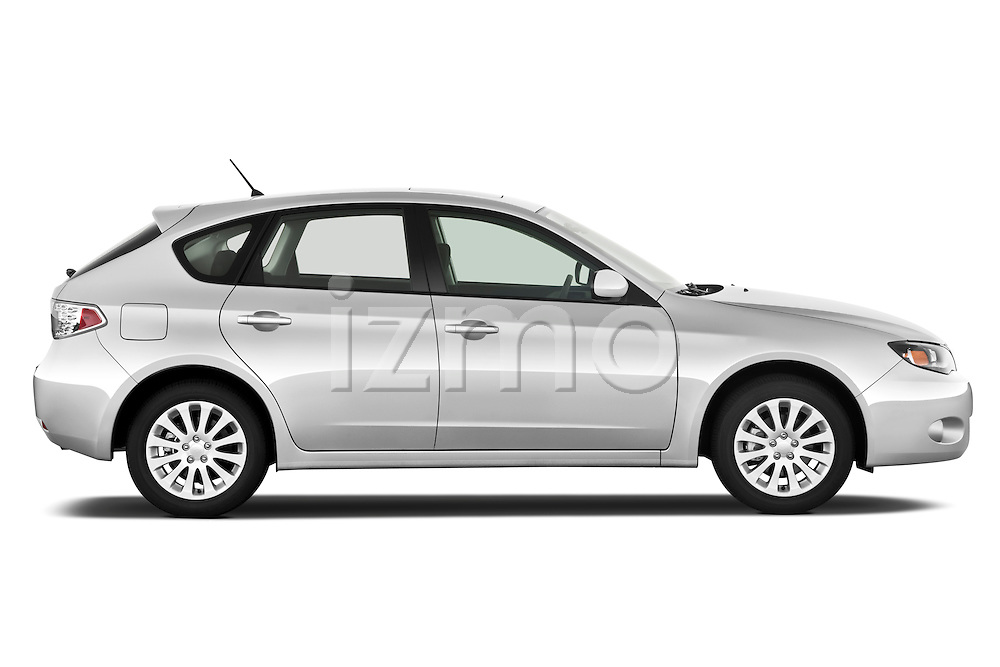 Passenger side profile view of a 2010 Subaru Impreza Wagon 2.5i Premium.