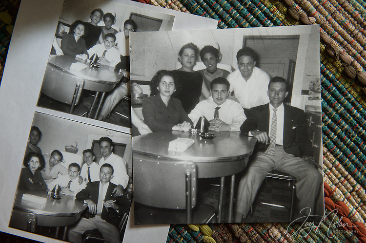 Some old Villamia family photographs shows Fidel Castro (center, mustache and tie) with Raul Villamia (jacket and tie). Photo/Jay Nolan