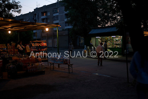 Uzhgorod, Ukraine.June 4, 2005 ..Daily life in Uzhgorod on Gagarina street...