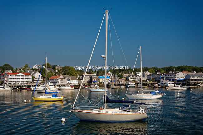Sailboats in the harbor,  Boothbay Harbor,Maine, USA