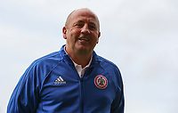Accrington Stanley manager John Coleman jokes before the game<br /> <br /> Photographer Alex Dodd/CameraSport<br /> <br /> The EFL Sky Bet League One - Fleetwood Town v Accrington Stanley - Saturday 15th September 2018  - Highbury Stadium - Fleetwood<br /> <br /> World Copyright &copy; 2018 CameraSport. All rights reserved. 43 Linden Ave. Countesthorpe. Leicester. England. LE8 5PG - Tel: +44 (0) 116 277 4147 - admin@camerasport.com - www.camerasport.com