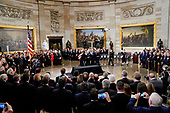 The flag-draped casket of former President George H.W. Bush is carried by joint services military honor guard into the Capitol in Washington, Monday, Dec. 3, 2018. (AP Photo/Pablo Martinez Monsivais/Pool)