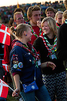 Dannish scouts at the IST opening ceremony. Photo: Magnus Fröderberg/Scouterna
