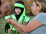 Alex Gruenberg, 5, talks with his grandmother Vera Hopkins following the Carson City Boo-nanza at the Community Center on Wednesday, Oct. 25, 2017. <br /> Photo by Cathleen Allison/Nevada Momentum