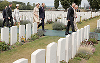 31 July 2017 - Ypres, Belgium - Tyne Cot cemetery for commemorations for the 100th anniversary of the battle of Passchendaele near Ypres in Belgium. Photo Credit: Alpha Press/AdMedia